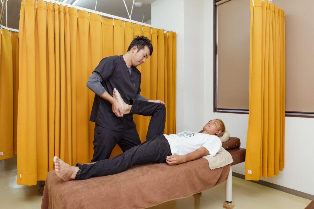 スポーツによる怪我の治療
